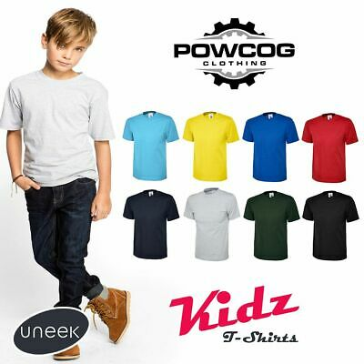 UNEEK PLAIN Cotton Childrens & Youths T-Shirts Kids Tee T Shirt 9 Colours