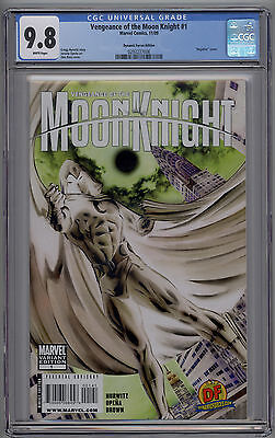 """Vengeance of the Moon Knight # 1 CGC 9.8 NM/MT Dynamic Forces """"Negative"""" Variant"""
