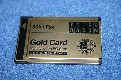 New DACOM PSION Gold Card Global PC Card 56k + Fax GSM&ISDN ready PCMCIA