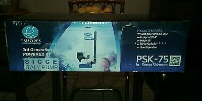 Eshopps PSK-75 In-Sump Protein Skimmer 3rd Generation 10 to 75 Gallon