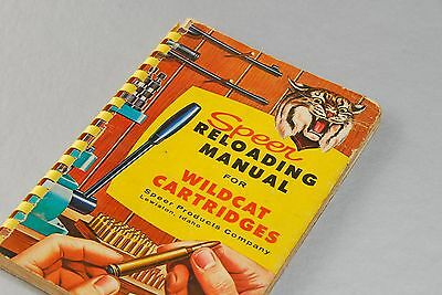 1959 Speer Co.Reloading Manual # 4 for Wildcat Cartridges