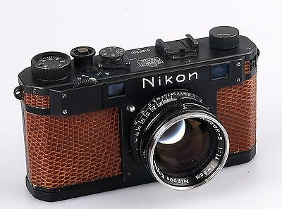 Nikon Model S Rangefinder camera with 5cm F1.4 lens.