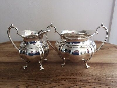 Silver Plated Milk Jug and Bowl
