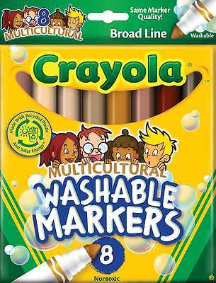 Crayola Multicultural Washable Markers-8/Pkg 071662001209