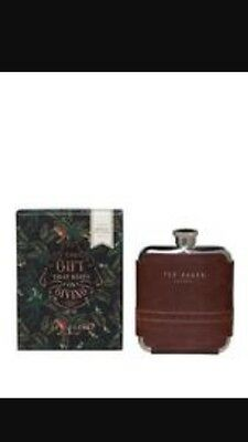 Ted Baker - Brown  Brogue Voyager's Hip Flask in Presentation Gift Box