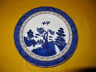 """ROYAL DOULTON/BOOTHS REAL OLD WILLOW MAJESTIC COLLECTION SALAD PLATE dia 8.5"""""""