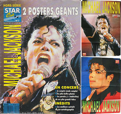 Michael Jackson STAR CLUB  Hors-Série French FR Magazine Poster Posters 1988