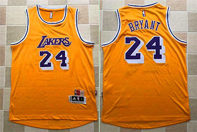 New Los Angeles Lakers #24 Kobe Bryant  Swingman Basketball Player Jersey Yellow