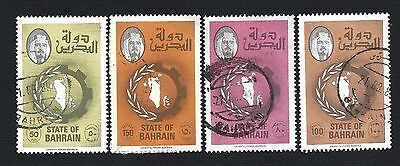 "Bahrain 1976 - 1988, Definitives 4 Vals ""type Ii"", With Hyphen, Sc 229A - 233"