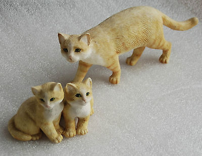 Ginger Cats One Standing & a Pair in Country Artists Style Very Collectable