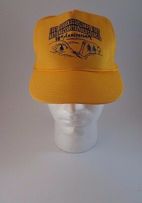 Vintage 1967-1997 Boy Scouts of America BSA Yellow Cap Hat One Size Trucker