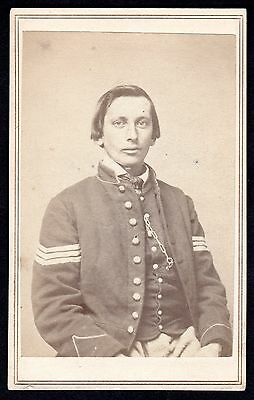 c.1864 Native American Civil War Sergeant~Troxell & Brother St Louis~Indian  CDV