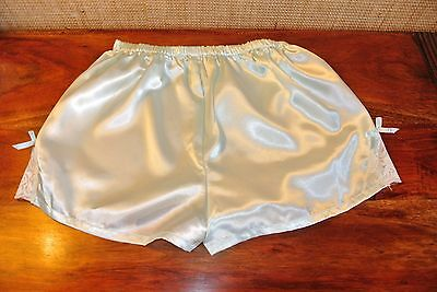 Culotte Shorty Satin Rose Dentelle Sissy Cd Knicker Panty Pantie !984