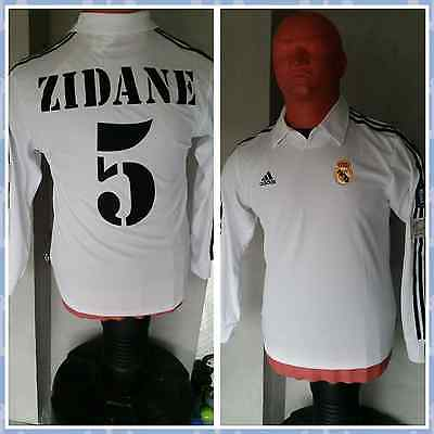 Maillot REAL MADRID FINALE 2002 ZIDANE Collector MAGLIA JERSEY CAMISETA Vintage