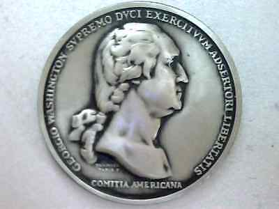 "George Washington, Bu, 1973 America's First Medals , Rare  1 1/2"" Pewter  Medal"