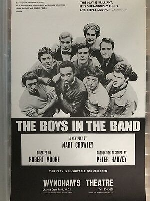 Rare Old Theatre Poster The Boys In The Band 1969