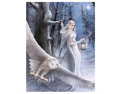 Anne Stokes Small Canvas Midnight Messenger