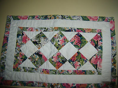 8 Pretty Hand Quilted Placements