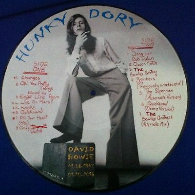 """David Bowie - Hunky Dory12"""" Vinyl Lp Picture Disc - New"""
