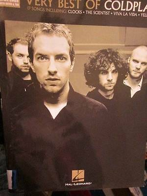 Very Best Of Coldplay Easy Guitar With Notes & Tab Music Book, Hal Leonard