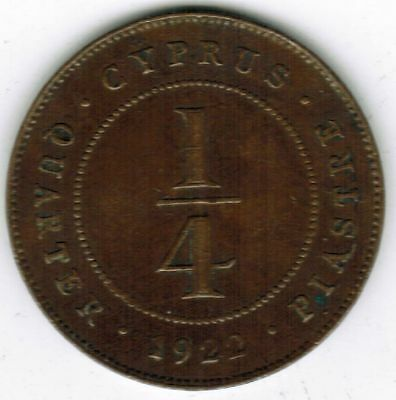 Cyprus ¼ Piastre – 1922 Scarcer Year