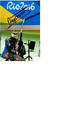 Olympic Bronze 2016 Rio in Shooting Alexis Raynaud original signed 10x15 photo.