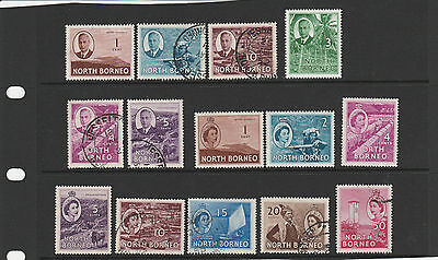 NORTH BORNEO, small lot of KGVI/QEII defins , values to 50c Mint/Used