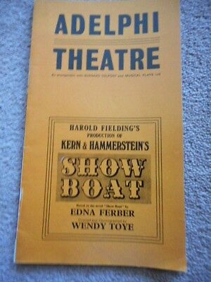 Show Boat  - Adelphi Theatre Programme -1972