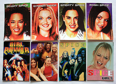 SPICE GIRLS POSTCARDS  8 x Spice Girls Vintage Postcards * GIRL POWER *