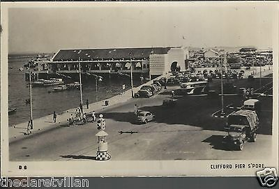 Singapore Clifford Pier  boats trucks lorry coach 1950s Unposted Real Photograph