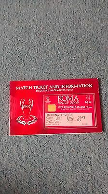 2009 CHAMPIONS LEAGUE FINAL TICKET MANCHESTER UNITED v BARCELONA & INFO LEAFLET