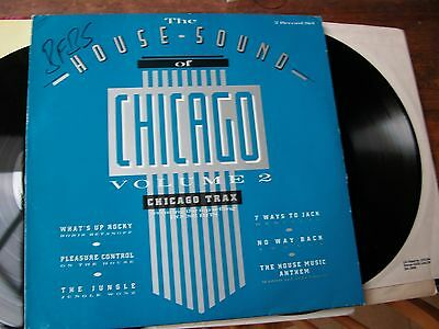 1987  house vinyl DOUBLE LP  THE HOUSE OF SOUND CHICAGO TRAX VOLUME 2  LONDP32