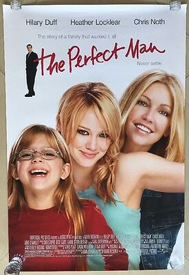 THE PERFECT MAN Movie POSTER 27x40 Hilary Duff Heather Locklear Aria Wallace