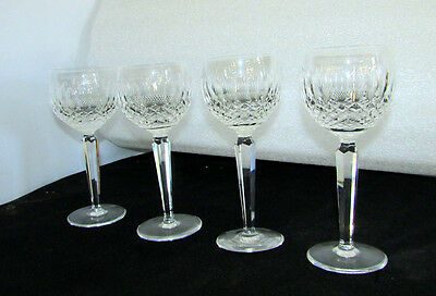 """4 Waterford Crystal Colleen  Red Wine Hock Goblet 7.5"""" Vintage Made In Ireland"""