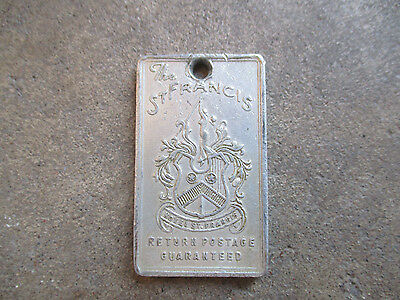 vintage 1930 St Francis Hotel SF San Francisco California key fob chain tag