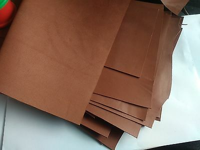 Light Brown Leather Offcuts of Soft Kid Goatskin Leather 1mm No.L226