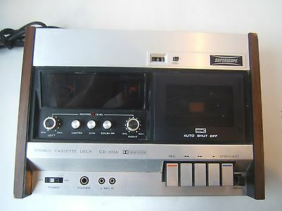 Superscope Cassette Deck CD-302A VTG 1970s Marantz Designed - Not Fully Tested