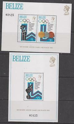 BELIZE - 1979.  Winter Olympic Games - 2 x M/Sheets, MNH  Cat. £20