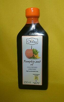RAW Pumpkin seed oil coldpressed, unrefined / High unsaturated fatty acids-250ML