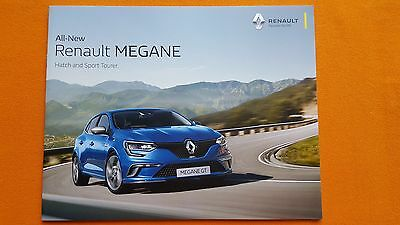 Renault Megane GT Sport Expression Dynamique paper brochure January 2017 MINT
