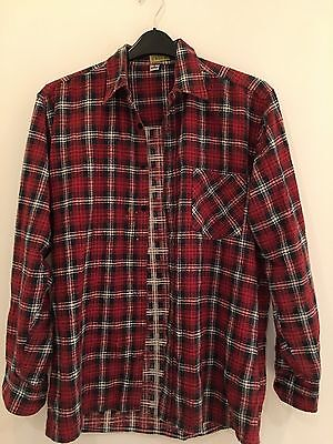 Red Vintage Check Flannel Shirt