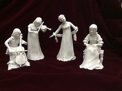 Andreoli's Cotillion Lot of 4 Figurines Ceramica Excelsis 1983 Roman Inc. Mexico