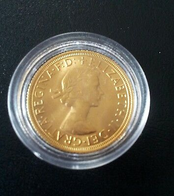 A 22Ct Gold Full Sovereign 1963