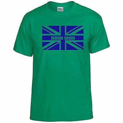 Northern Ireland Ulster Norn Iron Fans Themed Union Jack Style T-Shirt All Sizes