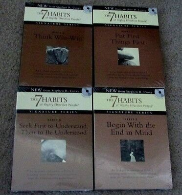 LOT OF 4 THE 7 HABITS OF HIGHLY EFFECTIVE PEOPLE AUDIO CD's STEPHEN R. COVEY NEW