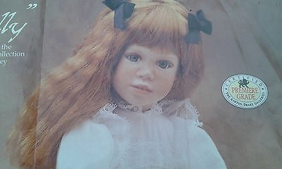 Collectors Handcrafted   Hand painted  Porcelain Doll,  Polly,s Tea Party.