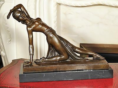 Bronze Statue Sculpture Dancing Girl Figurine after D Chiparus Interior