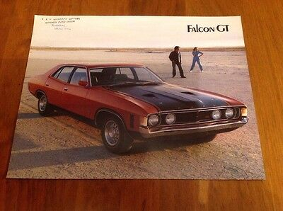 ORIGINAL 2 Sided 1972 FORD FALCON XA GT 351 4 DOOR SALES BROCHURE