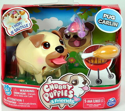 New 2016 CHUBBY PUPPIES PUG CARLIN DOG SINGLE PACK - Fast shipping!