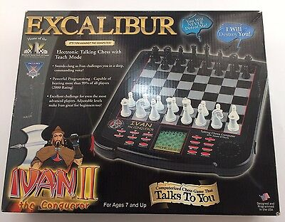 Ivan II The Conquerer Excalibur Electronic Talking Chess Game Teach Mode
